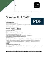 2018 October US QAS Full SAT