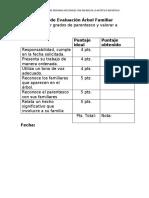 Pauta de Evaluación Arbol Familiar