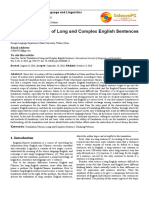 On the Translation of Long and Complex English Sentences