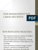 pain management in labor