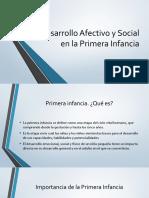 Desarrollo Afectivo y Social en la Primera Infancia