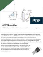 MOSFET Amplifier Circuit using an Enhancement MOSFET