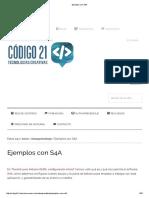 Codigo21 Educación Navarra Ejemplos con S4A