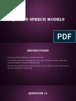 Quiz on speech models