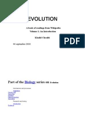 Evolution Book - Articles from Wikipedia e & Fr Vol 1