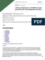 1051-2014 CS (Nulidad Procesal)