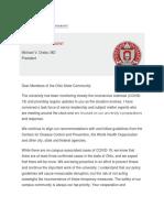 Ohio State Coronavirus Update