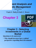 Chapter 3 - Selecting Investments in a Global Markets