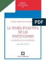 La teoría evolutiva de las instituciones - César Martínez Meseguer