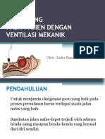 Suctioning Pasien dengan ventilator