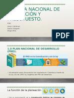 SISTEMA NACIONAL DE PLANEACIÓN Y PRESUPUESTO