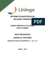 EL POVENIR - RESULTADOS DE MOLIENDA KOPPERS 9.5x12 N°1