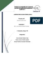 Reporte de Bacteriologia practica 1 y 2