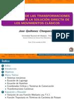 UTILIZACIÓN DE LAS TRANSFORMACIONES CANÓNICAS EN LA SOLUCIÓN DIRECTA DE LOS MOVIMIENTOS CLÁSICOS
