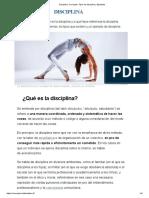 Disciplina_ Concepto, Tipos de disciplina y Ejemplos