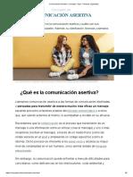 Comunicación Asertiva_ Concepto, Tipos, Técnicas y Ejemplos