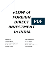 Flow of Fdi in India Final Project