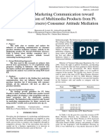 The Effect of Marketing Communication toward Purchase Intention of Multimedia Products from Pt. Balai Pustaka (Persero) Consumer Attitude Mediation