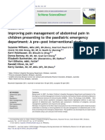 Improving pain management of abdominal pain in children presenting to the paediatric emergency departemen