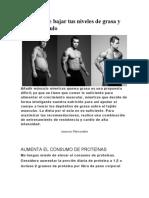 5 Formas de bajar tus niveles de grasa y ganar músculo