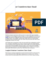 Cara Membuat Countdown timer Email Marketing