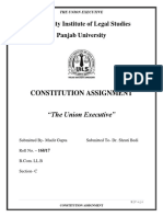 CONSTITUTION ASSIGNMENT on The Union Executive