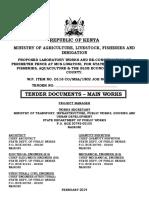 Ministry of Works Kenya Cover
