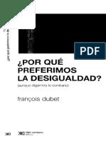 Dubet (2015) Por que preferimos la desigualdad