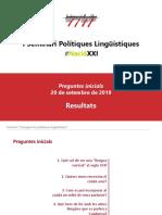 I Seminari Polítiques Lingüístiques #NacióXXI. Preguntes inicials i resultats
