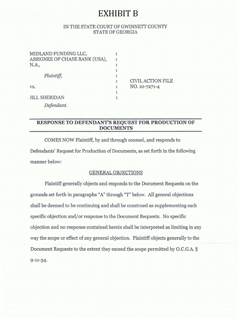 08 11 2010 Plaintiff's Response to Defendant's Request for