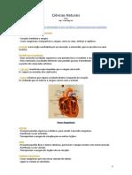 Ciências Naturais - sist cardiovascular e excretor resumo teste fev