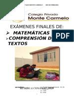 EXÁMENES FINALES DE_3ro