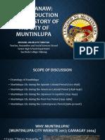 Balik-tanaw_a Brief History of Muntinlupa City
