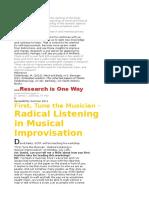 radical listening in musical improvisation