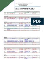 CALENDAR COMPETITIONAL  24 IANUARIE 2019