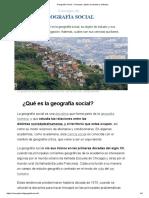 Geografía Social - Concepto, objeto de estudio y métodos