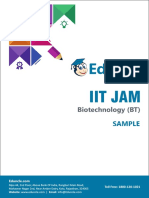 Sample questions with sol. - IIT JAM BT USP-13