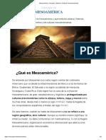Mesoamérica_ Concepto, Historia y Culturas mesoamericanas