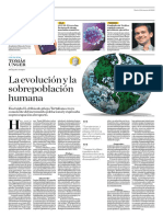 La Evolución y La Sobrepoblación Humana