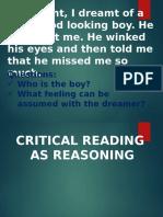 Critical Thinking as Reasoning