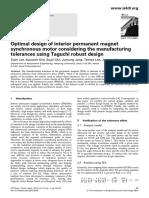 Optimal design of interior permanent magnet - Lee - 2013