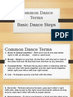 Common Dance Terms
