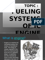 Fueling of IC engine