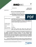 MEPC 70-5-25 - Experience on ultra-low sulphur fuel oils (Belgium, Denmark, Finland...)