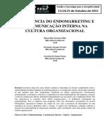 A INFLUÊNCIA DO ENDOMARKETING E DA COMUNICAÇÃO INTERNA NA CULTURA ORGANIZACIONAL.pdf