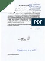 Declaración Jurada Dorali Segura Araujo