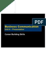 Business Communication - Unit 4 - Career Building Skills - p