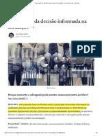 O princípio da decisão informada na mediação - ana luiza Isoldi (1)