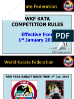 WKF KATA Education PowerPoint  effective 1st Jan. 2019