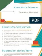 Elaboración de Exámenes